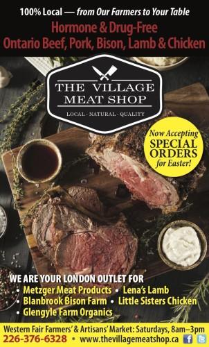 Ontario Beef, Pork, Bison, Lamb & Chicken at Village Meat Shop
