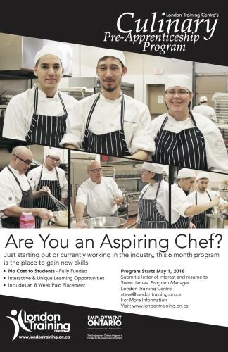 London Training Centre's Culinary Pre-Apprenticeship Program